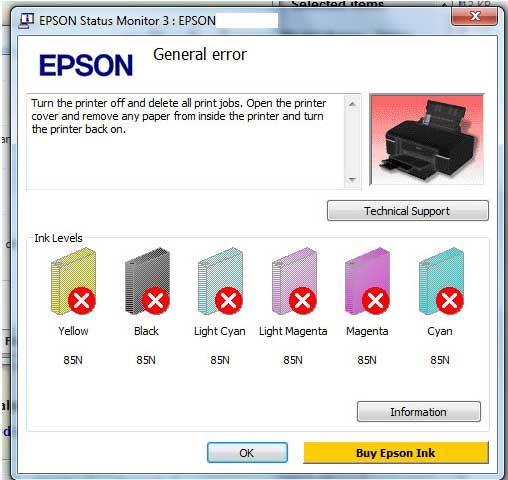 [Fix] Epson L800 General Error