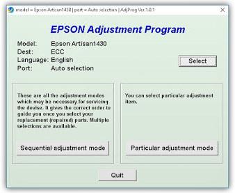 AdjustmenProgram Epson 1430