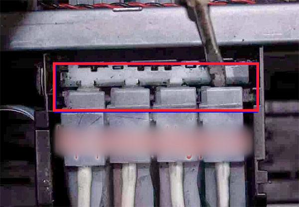 Melepaskan cartridge unit